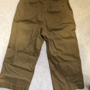 Madewell Langford wide leg crop pant